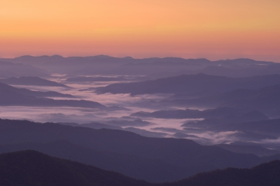 Clingman's Dome At Sunrise.