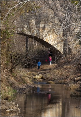 Under The Travertine Creek Bridge