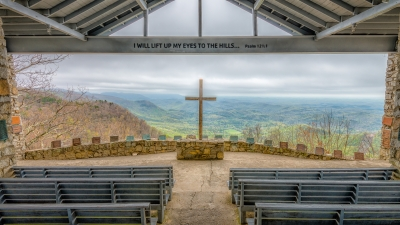 Chapel View Of The Mountains