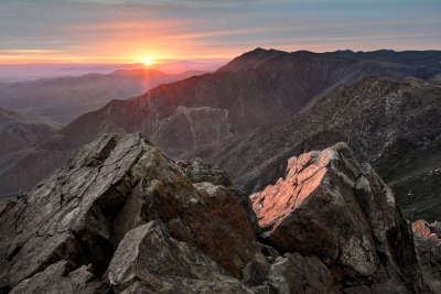 Sunrise From The Summit Of Garnet Peak