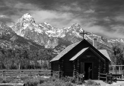 Chapel Of The Transfiguration And The 'Grand Teton'