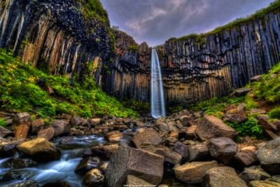 Svartifoss (black) Waterfall
