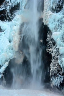 Blue Ice At Multnomah Falls