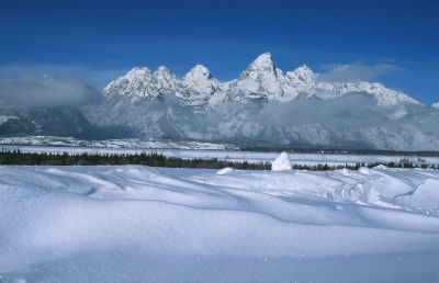 Grand Teton Snowdrifts