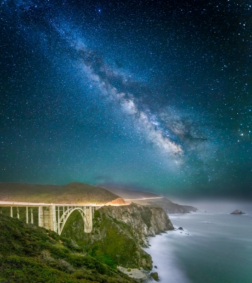 Bixby Bridge By Starlight – Big Sur, Ca