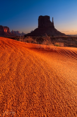 Golden Sands Of Monument Valley