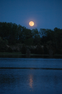 The Super Moon Over The Quary