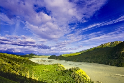 Alaska, Wrangell-st Elias National Park, Booming Clpuds