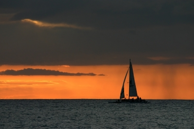 Sunset Sailing In Waikiki