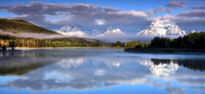 The Oxbow And Tetons