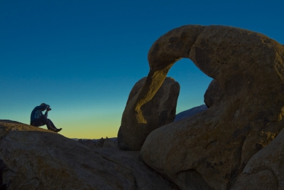 Photographer Shooting Mobius Arch