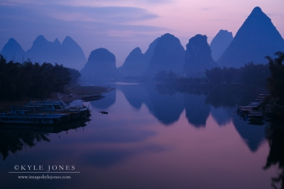 Yangshuo Bridge Dawn