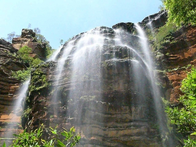 Wentworth Falls In The Blue Mountains West Of Sydney, Nsw