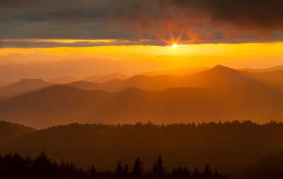 Sunset Over The North Carolina Highcountry