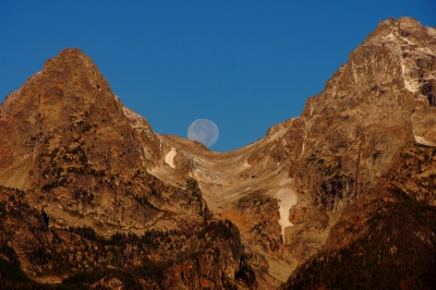 Moonset Behind The Tetons