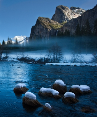 Snow And Merced River
