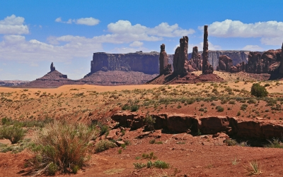 Totems Of Monument Valley