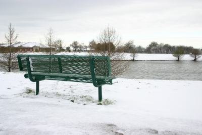 Park Bench 1st Day Of Spring
