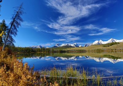 Fall Colors At Little Redfish Lake