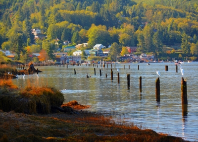 Sunrise Fishermen, Village Of Wheeler, Oregon