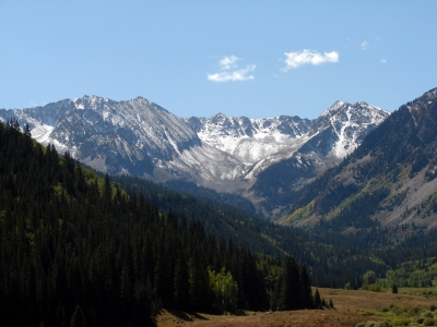 Elk Mountains Late Summer Snow