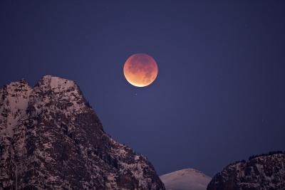 Moon Eclipse, Grand Teton Park