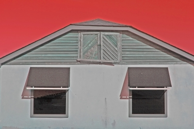 Building And Red Sky