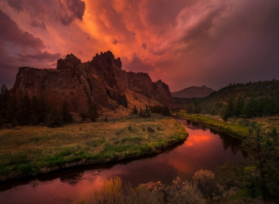 Storm Light Over Smith Rock