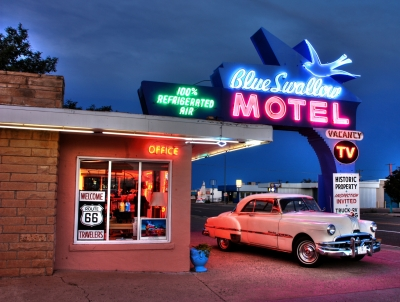 Route 66-blue Swallow Motel