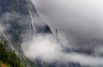 Tracy Arm Fjord In Mist