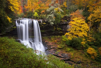 Autumn At Dry Falls, Highlands Nc