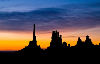 Sunrise Over The Totem Pole, Monument Valley