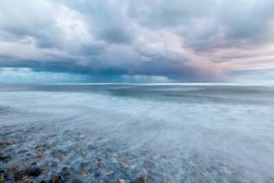 Sweeping Shoreline And Gathering Storm