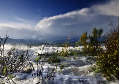 Winter Storm Lake Kinneret (sea Of Galilee)
