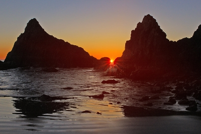 Setting Sun At Seal Rock