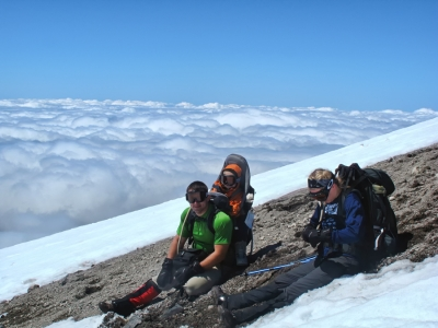 American Family Nearing Mt. St. Helens Summit
