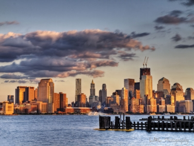 Some Of Nyc Skyline At Sunset