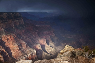 Yaki Point Snowstorm, Grand Canyon Np