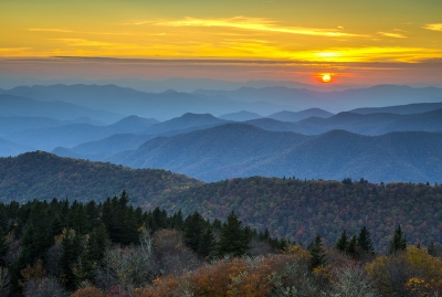 Blue Ridge Parkway Sunset – For The Love Of Autumn