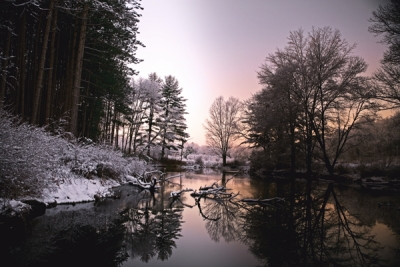 First Snow At Kuhns Pond