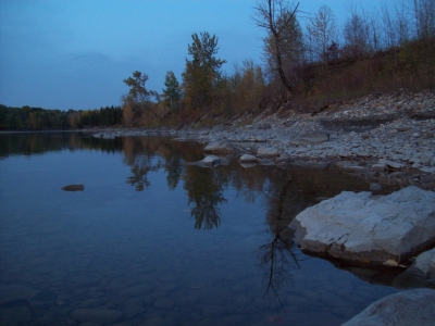 Down By The River On A Cool Fall Evening