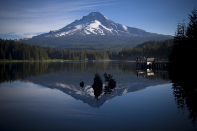Mount Hood Reflecting In Trillium Lake