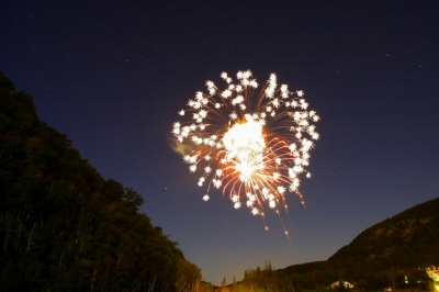 Fireworks Over The Balsam's Grand Hotel