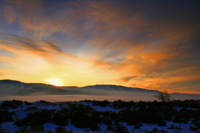 Foggy Sunrise Over Washoe Valley