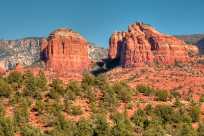 Cathedral And Courthouse Rocks, From Eagle's Nest Trail