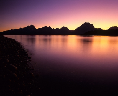 Sunset At Jackson Lake