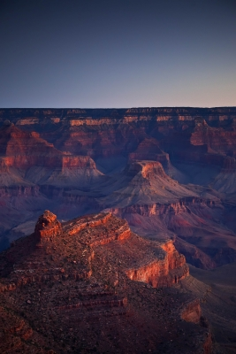 Bright Angel Sunrise, South Rim Trail, Grand Canyon Np