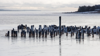 Dock Posts In Ice