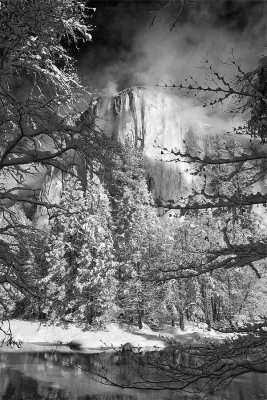 California, Yosemite National Park, El Capitan, Winter