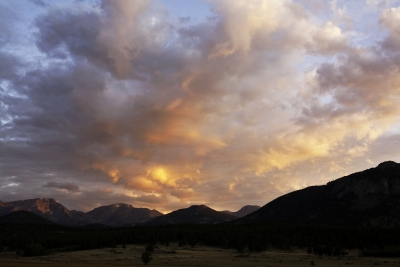 Sunrise In Moraine Park, Rocky Mountain National Park